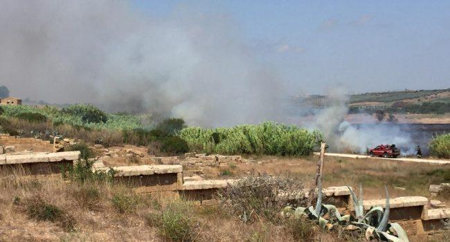 Incendio a Selinunte, interessata l'Area Archeologica