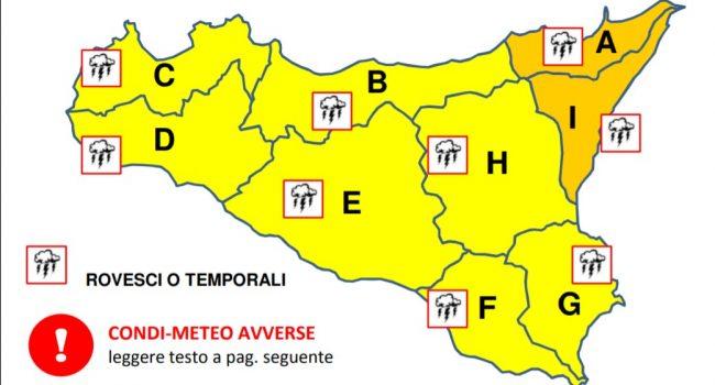 Maltempo d'agosto in Sicilia: allerta gialla e arancione sull'isola