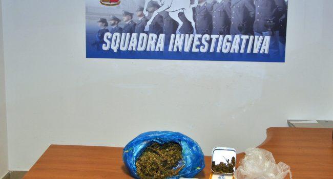 Droga a Mazara, Polizia arresta un pregiudicato e sequestra mezzo chilo di erba