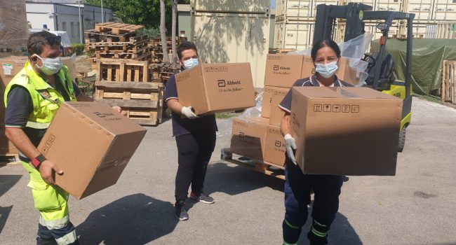 Coronavirus: arrivati in Sicilia i primi tamponi rapidi