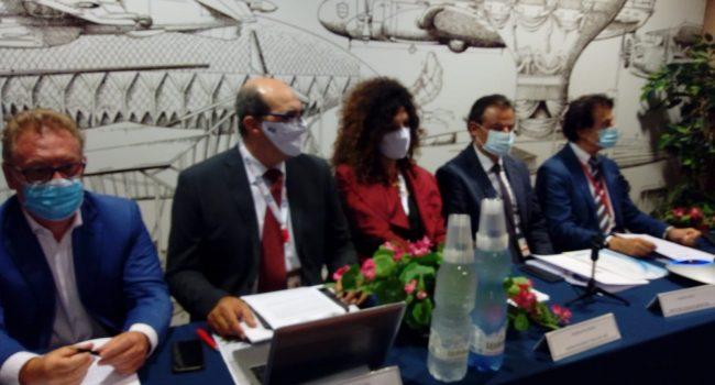 """Maddalena Russo (Isca)""""Il mondo tornerà a volare"""".  Conferenza stampa della società che si occupa dell'assistenza degli aeromobili di AlbaStar"""