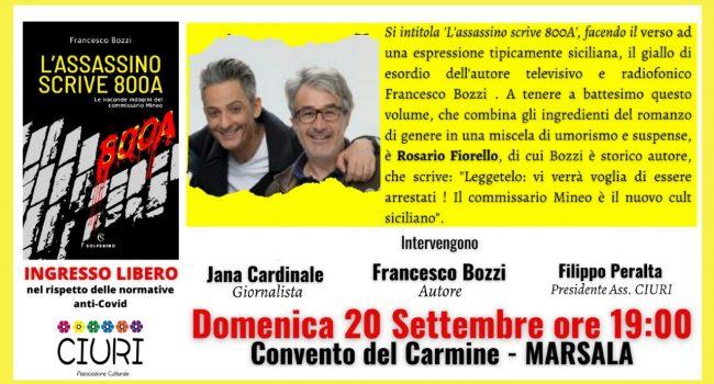 """Al Carmine il libro dell'autore tv Francesco Bozzi """"L'assassino scrive 800A"""""""