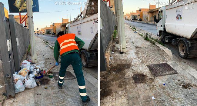 Marsala: continua la pulizia delle microdiscariche e il recupero degli ingombranti