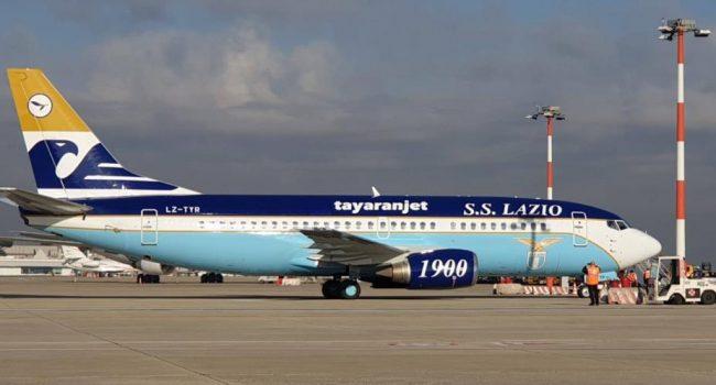 L'aereo della Lazio staziona a Birgi, un velivolo del '91 tra marketing e un milione di euro