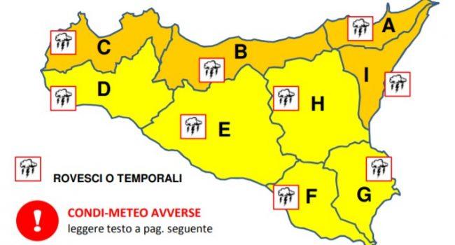 Allerta meteo in Sicilia: per domenica piogge, freddo e vento