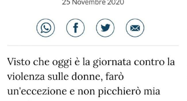 """Commento shock su La Stampa, l'utente Jena: """"Oggi non picchierò mia moglie"""""""