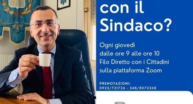 """Filo diretto con i cittadini di Petrosino, al via gli incontri online """"Un Caffè con il Sindaco"""""""