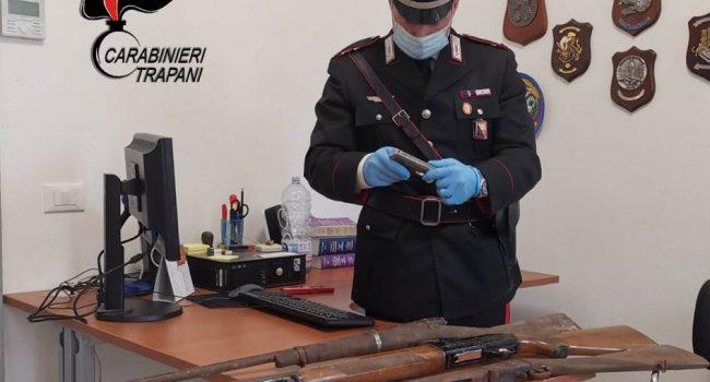 Pantelleria: sei soggetti denunciati per detenzione abusiva di armi