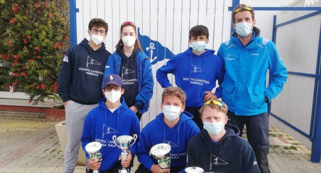 A Marsala quarta tappa del Campionato Zonale Laser, podio per gli atleti della Canottieri
