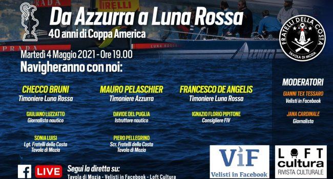 """""""Da Azzurra a Luna Rossa: 40 anni di Coppa America"""", evento online con i Fratelli della Costa (Mozia)"""